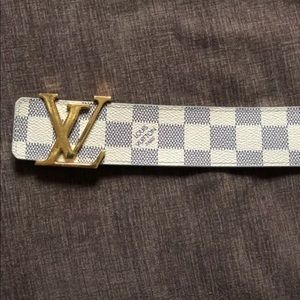 Louis Vuitton Accessories - 👨 AUTH LV DAMIER AZURE MENS BELT FITS SIZE 36-38